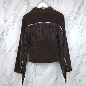 Vintage Moschino Corduroy Fringe Stud Jacket